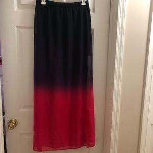 Forever 21 Ombré Maxi Skirt